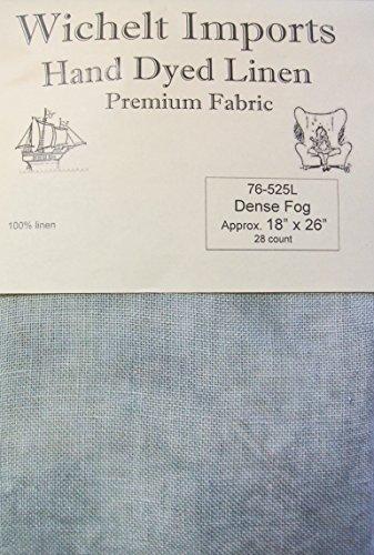 Wichelt Hand Dyed 100% Linen Dense Fog 28 Ct 18
