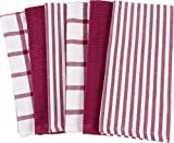 KAF Home Mixed Flat & Terry Kitchen Towels | Set of 6 18 x 28 inches | 4 Flat Weave Towels Cooking Drying Dishes 2 Terry Towels House Cleaning Tackling Messes Spills (Wine)