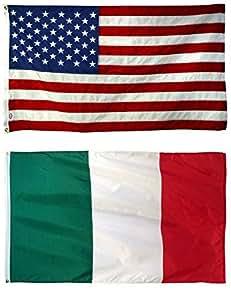 Al por mayor Combo cartucho de Estados Unidos Italia italiano 3'x5' poliéster banderas