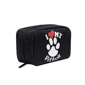 86725495e6c0 I Love My Pitbull Staffy Terrier Dog Cosmetics Bag Makeup Bag Case ...