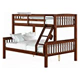 CorLiving Twin over Full Bunk Bed in Walnut Brown