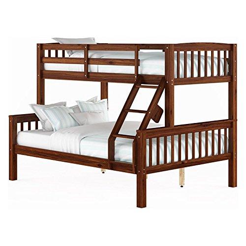 CorLiving BDN-292-B Dakota Bunk Bed, Single/Double, Walnut B