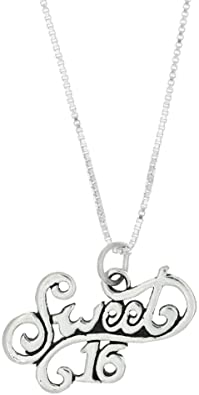 Lgu Sterling Silver Oxidized Charming 13 Years Old Heart Charm