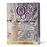 One 'n Only Shiny Silver for Grey Hair Perm with Argan Oil Kit by Jheri Redding