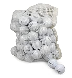 Titleist Recycled Used Golf Balls Cleaned B/C Grade Golf Balls 72 Ball Assorted Models in Onion Mesh Bag from Nitro Golf LLC