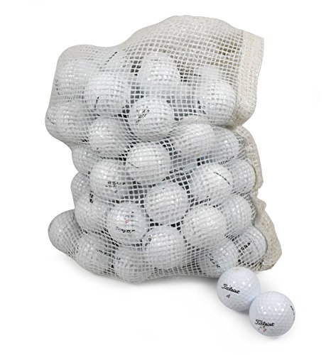 (Titleist Recycled Used Golf Balls Cleaned B/C Grade Golf Balls 72 Ball Assorted Models in Onion Mesh Bag)