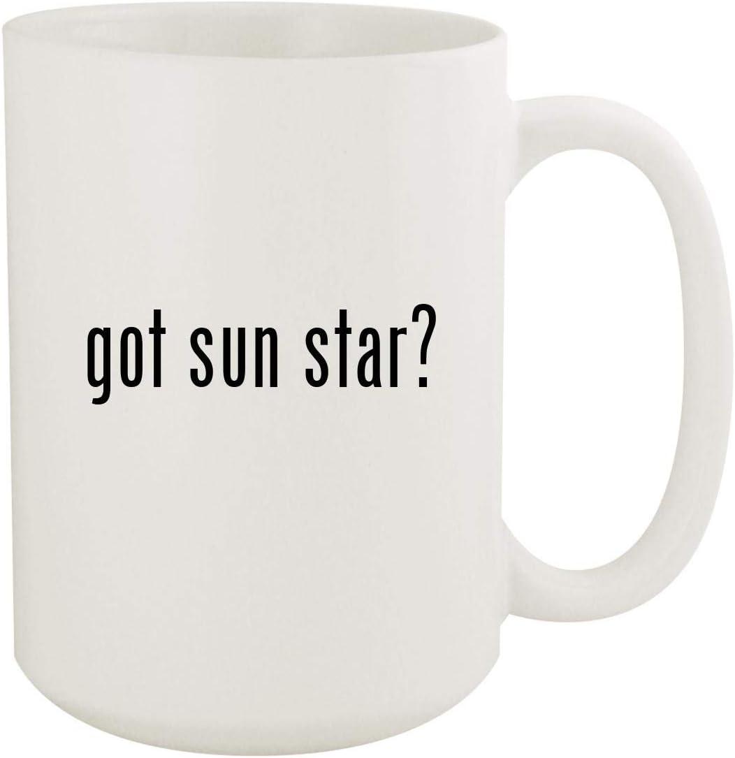 got sun star? - 15oz White Ceramic Coffee Mug