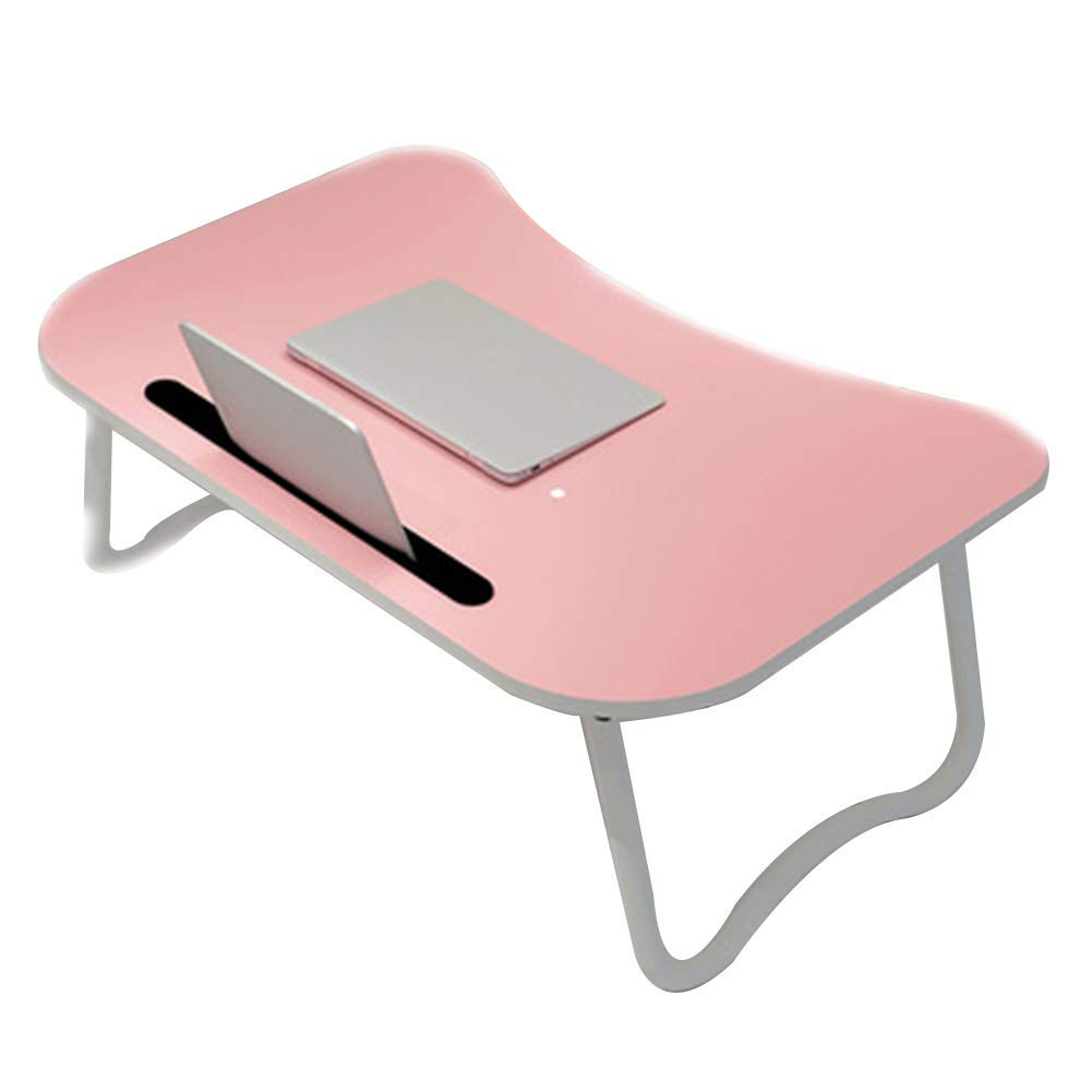 A Notebook Stand Desk Wall Table Student Dormitory Laptop Table Multifunctional Folding Desktop Fixing Groove Bedroom Picnic, Wood-Based Panel (color   A)