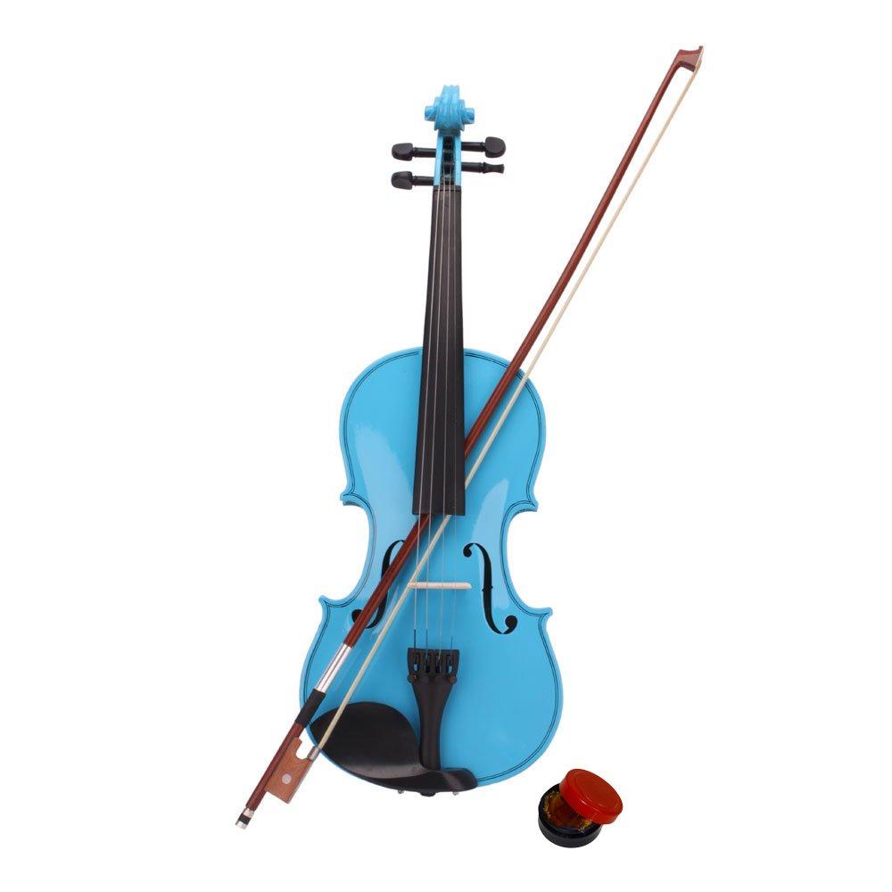 Lovinland 4/4 Acoustic Violin Sky Blue Beginner Violin Full Size with Case Bow Rosin by Lovinland (Image #2)