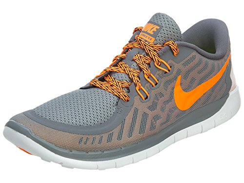 Nike Free 5.0 Unisex Kids Trainer Cool Grey/Total Orange/Bright Ctrs/Hyper