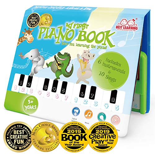 BEST LEARNING My First Piano Book - Educational Musical Toy for Toddlers Kids (Vtech Piano With Microphone)