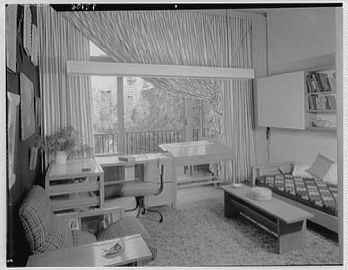 Photo: Russel Wright,residence,business,223 1/2 E 48th Street,New York City,NY,1951 (48th Street)