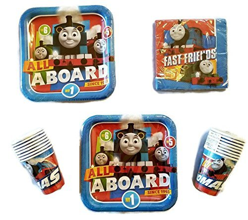 Thomas The Train All Aboard 9 Plates 16 16 16 Napkins Cups