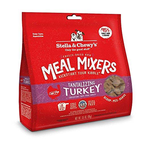 Stella & Chewys Freeze-Dried Raw Tantalizing Turkey Meal Mixers Grain-Free Dog Food Topper, 3.5 oz. bag
