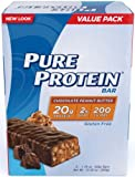 Pure Protein Chocolate Peanut Butter Value Pack Bars, 50g, 60 Bars