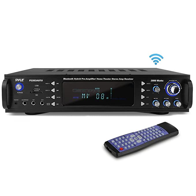 Pyle 4-channel Bluetooth Home Power Amplifier