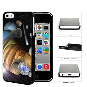 The Solar System Stars Planets And Shooting Stars Hard Plastic Snap On Cell Phone Case Apple iPhone 5c
