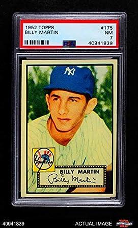 Amazoncom 1952 Topps 175 Crm Billy Martin New York