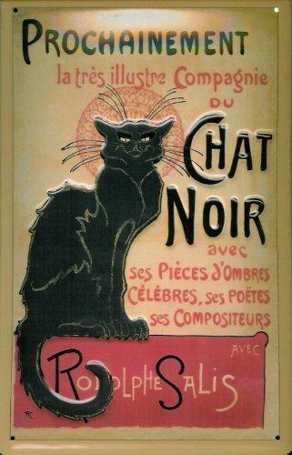 Amazon.com: Señal de estaño con Chat Noir gato negro teatro ...