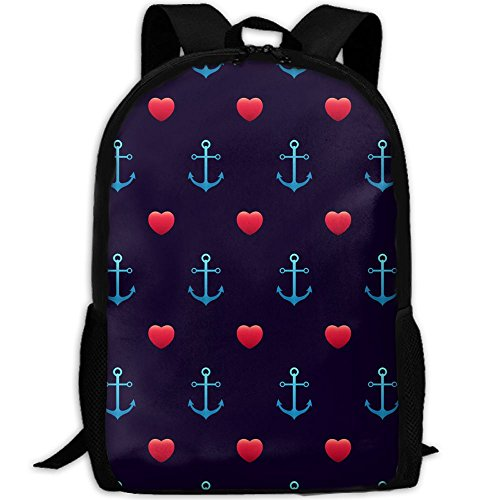 Laptop Backpack Anchor PatternSeamless Love Wedding Water-Repellent Laptop Bag Student Bag Inch For Women And Men by Bgysfd23