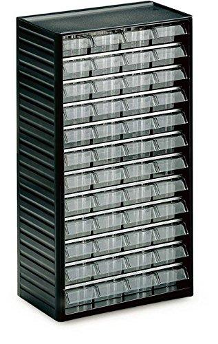 Treston 551-3 Kleinteilemagazin Serie 550 mit 48 Schubladen glasklar TF1009