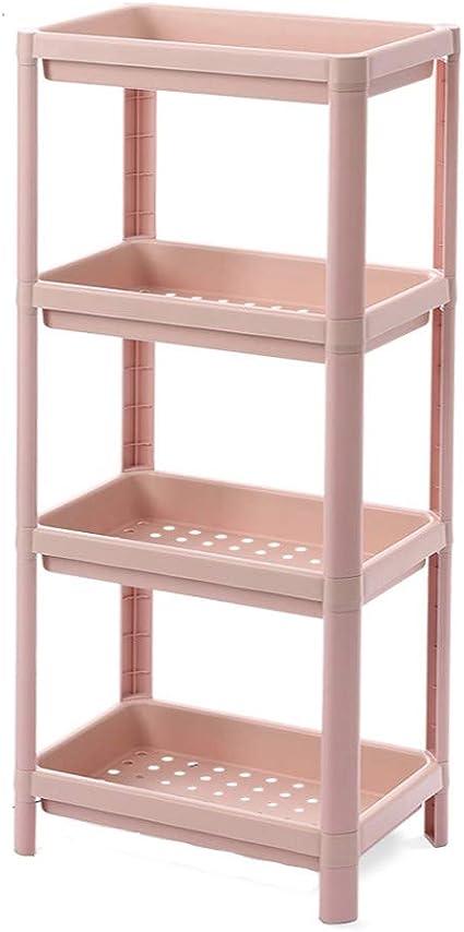 Chiya Badezimmer 4 Tier Toilettenregal Waschmaschinenregal Wc Regal Badezimmer Regal Geeignet Fur Kuche Bad Pink Amazon De Kuche Haushalt