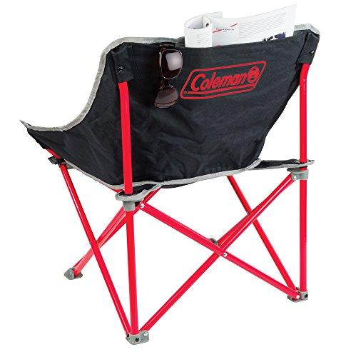 Red Coleman Kickback Folding Camping Chair