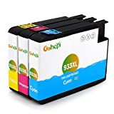 Gohepi Replacement for HP 933 933XL Cyan Magenta Yellow Ink Cartridges High Capacity Compatible for HP Officejet 6700 6600 7612 7110 7610 6100 (1 Cyan, 1 Magenta, 1 Yellow)