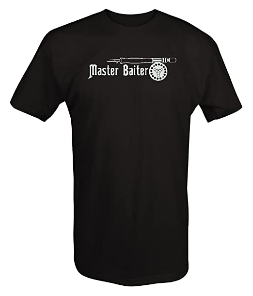 676b735f0 Amazon.com  Master Baiter Fishing Rod   Reel T Shirt  Clothing
