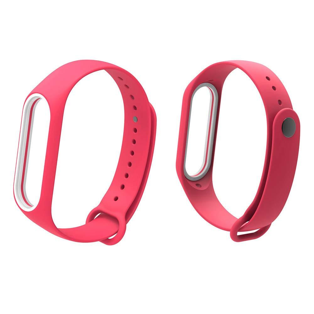 Fullfun Bracelet for Xiaomi Mi Band 3 Sport Strap Watch Wrist Miband 3 Strap (Red)