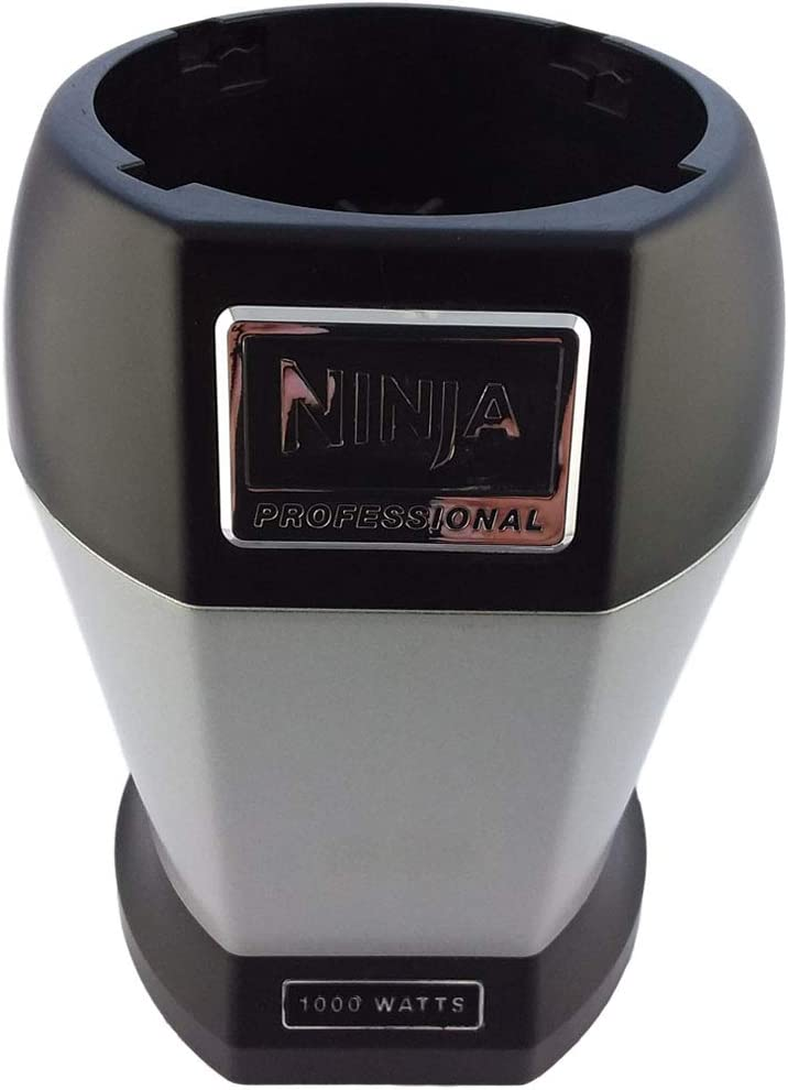 OEM Nutri Ninja Pro BL455 1000 Watts Power Motor Base (6 Fin) Fits 12 18 24 32oz BPA-free Tritan Cups and 24oz Stainless Steel Cups Home Kitchen Appliance (Certified Refurbished)