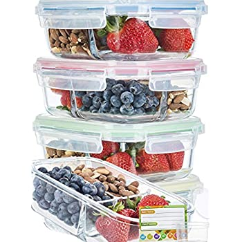 Amazon.com: [3 Pcs] Glass Meal Prep Containers Glass 2