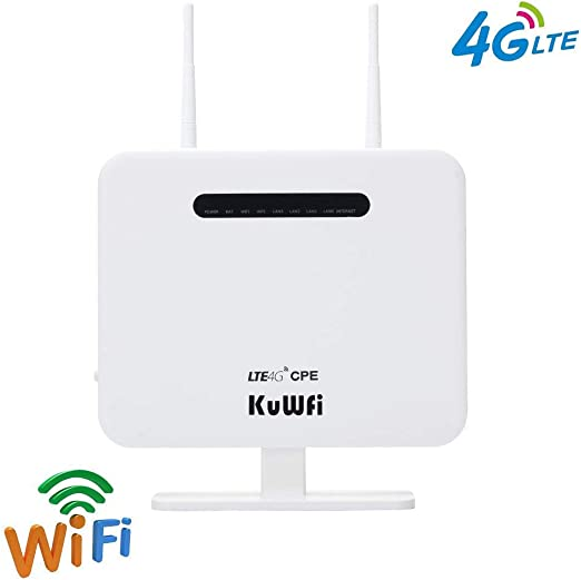 Color : Black, Size : 4G ADPTT WiFi Router 4G LTE Open WRT Smart CPE Router Sim Card WiFi Wireless Modem Wireless Router WiFi Networking 300Mbps Support Wireless