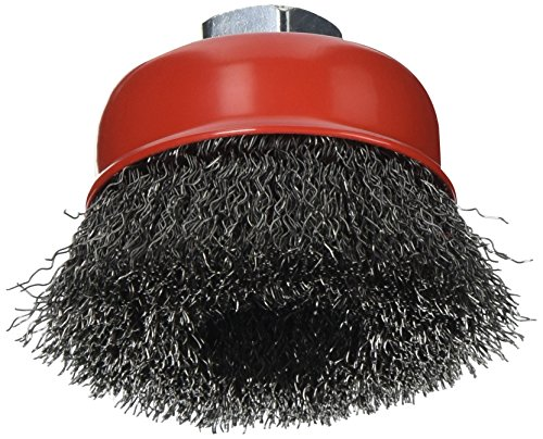 Forney Arbor - Forney 72755 Wire Cup Brush, Coarse Crimped with 5/8-Inch-11 Threaded Arbor, 2-3/4-Inch-by-.014-Inch