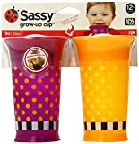 Baby : Sassy 2 Count Grow Up Cup, Purple/Orange, 9 Ounce