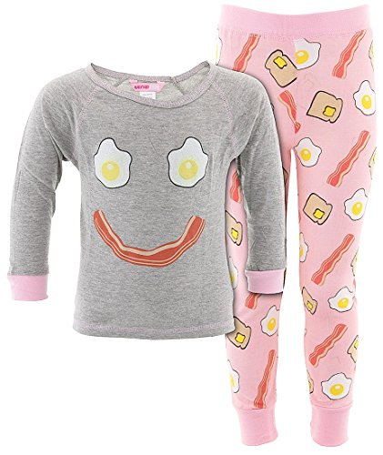 Katnap Kids Big Girls' Bacon and Eggs Cotton Pajamas M/6-8