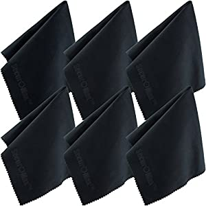 Microfiber Cleaning Cloth 12x12 Inch (6 Pack) for Lens, Eyeglasses, Glasses, Screen, iPad, iPhone, Tablet, Cell Phone - Lint FREE Cleaner Cloths to Clean Camera Lenses, Tablets & TV Screens