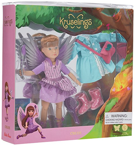 Kruselings Doll Chloe, Deluxe Set with Magical Outfit, Casual Outfit and Accessories ()