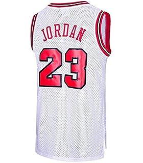 3b477722343c2 MTBD Maillot de Basket, NBA #23 Retro Bulls Michael Jordan, Broderies  Respirantes et