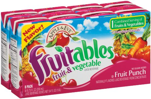 Apple & Eve Fruitables, Fruit Punch 6.75 Fluid-oz., 40 Count