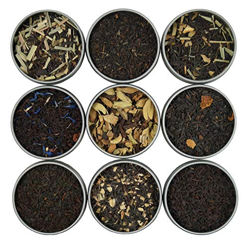 Heavenly Tea Leaves Black Tea Sampler, 9 Loose Leaf Black Teas