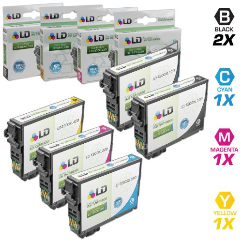 LD Remanufactured Ink Cartridge Replacement for Epson 200 200XL High Yield (2 Black, 1 Cyan, 1 Magenta, 1 Yellow, (Best Epson Ld Products Ld Products Home Inkjet Printers)