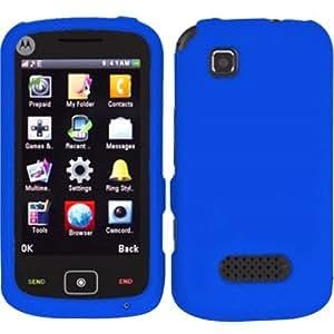Rubberized Hard Case Cover For Motorola EX124g - Blue