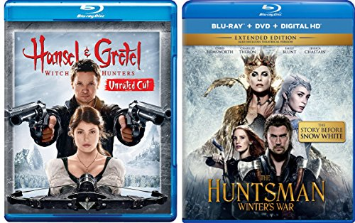 The Huntsman Winter's War + & Hansel & Gretel: Witch Hunters Blu Ray Set Amazing Fairy Tale Action Double Feature