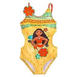 Disney Moana Swimsuit for Girls Size 5/6 Yellow