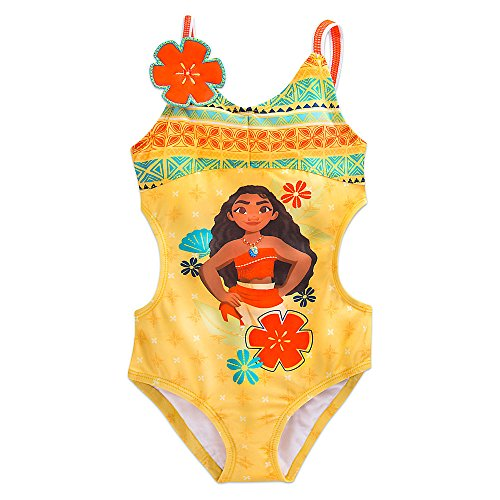 Disney Moana Swimsuit for Girls Yellow