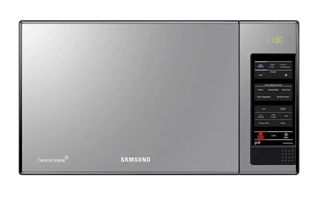 Samsung MG402MADXBB 40-Liter 1500-Watt Grill Microwave Oven, 220V (Not for USA - European Cord), Silver by Samsung