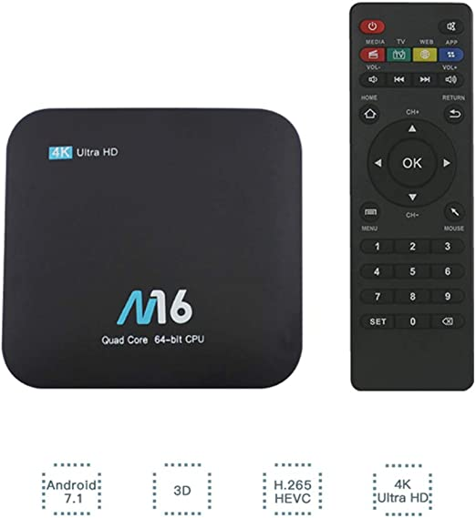 M16 Lite H3 Quad Core HD Android 7.1 Set-Top Box 4K 2G + 16G Smart TV Box: Amazon.es: Hogar