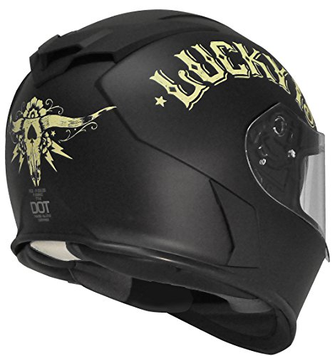 Flat Black Full Face Motorcycle Helmet - 6