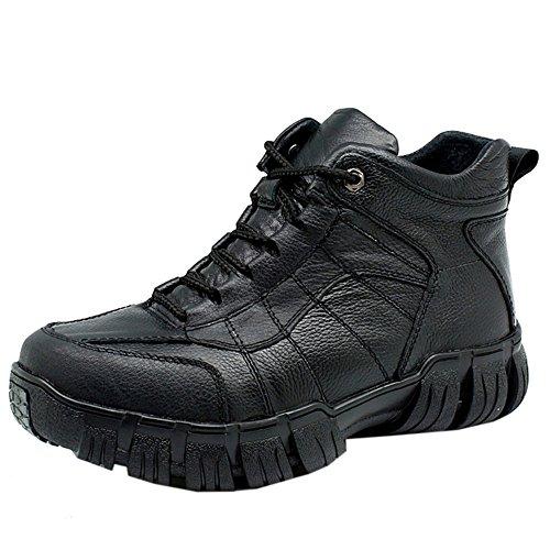 Uomo Uomo Uomo TAOFFEN Stivali Stringate Black Moda Moda Moda Moda Scarponcini Hiking Basse qHgHUBA